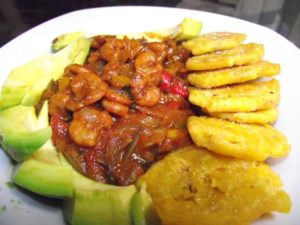 Caribbean style stewed shrimp! (2/5)