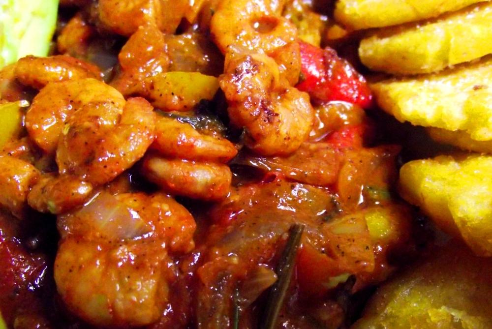 Caribbean style stewed shrimp! (1/5)