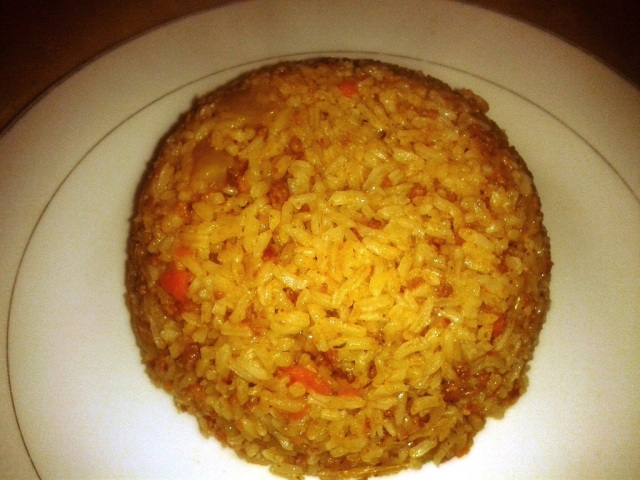 ground meat rice