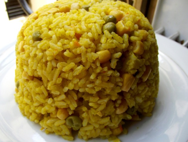 Creamy pumpkin rice